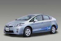 「トヨタ・プリウスPHV」。2012年初めまでの市販化、すなわち2011年の発売が期待できるプラグインハイブリッドカーだ。300万円を切る価格に設定される見込み。