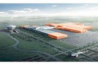 ポルシェのライプツィヒ工場は、テストコースやカスタマーセンターを備える。 図の赤い箇所が今回新設される。