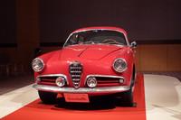 発表会の会場に飾られた、初代「アルファ・ロメオ ジュリエッタ」。