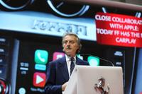 フェラーリのルカ・ディ・モンテゼーモロ会長も登壇。あいさつを述べた。