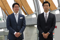 GLMの小間裕康代表取締役社長(左)と田中智久取締役(右)。