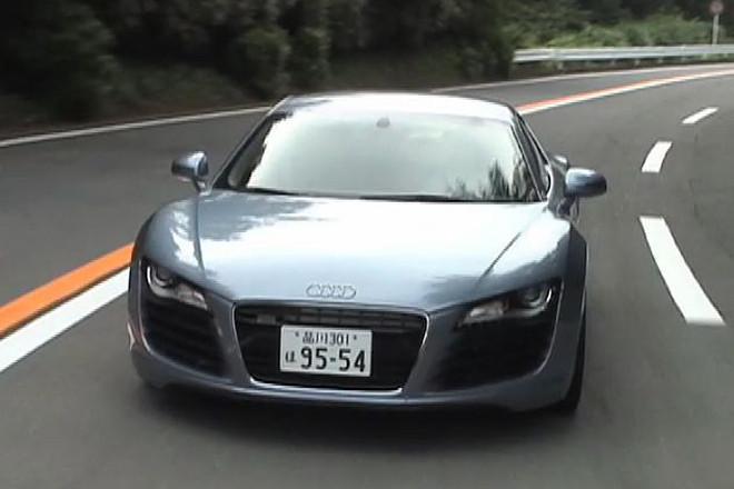 アウディR8(4WD/6AT)【動画試乗記(前編)】