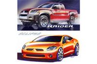 【デトロイトショー2005】三菱、スポーツトラック「レイダー」と新型「エクリプス」発表の画像