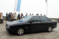 サンマリノ共和国の公用車「ランチア・カッパ」。ボクが知る限り10年近く現役だ。