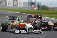 フォースインディアのルーキー、ポール・ディ・レスタ(左)は、予選11位から自身最高位となる7位完走。3回目の入賞を果たした。(Photo=Force India)