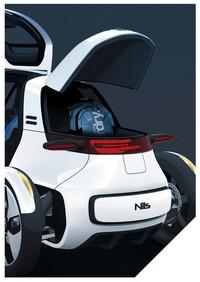 フォルクスワーゲン、1人乗りEV「NILS」を出展【フランクフルトショー2011】の画像