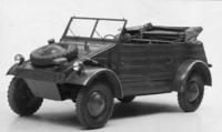 第2次世界大戦にドイツが投入した「キューベルワーゲン」。「KdFワーゲン」(後の「フォルクスワーゲン・タイプI」)をベースとした軍用車で、水陸両用車など、多数の派生モデルも生産された。