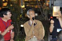 「ミッドナイトTTD」で。一番左が川上さん。その右隣は『CG』名誉編集長(当時)の故・小林彰太郎氏。