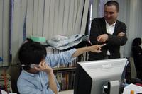 アオキ副編集長(左)とサトータケシさん(右)。いやはや、仕事の出来る方は貫禄が違います! でも、二人が何をしたいのかわからないのは、そのせいでしょうか?!僕も早く追いつけるように日々頑張ります!