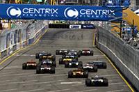 スタート直後のシーン。この後、1コーナーでブーデとブルーノ・ジュンケイラが接触することになる。