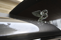 ラジエーターマスコット「Flying B」は下部に格納することができる。