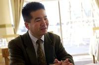 モビリオのエクステリアデザインを担当した、本田技術研究所和光研究所デザインAスタジオの村上邦俊研究員。