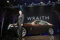2013年4月に都内で行われた新型「レイス」プレビュー(事前発表会)で登壇するポール・ハリス氏。