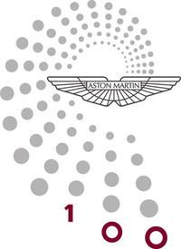 アストン・マーティンの創立100周年を記念するロゴ。