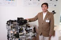 <プロフィール>     1989年、本田技研工業に入社。その後、本田技術研究所に転属し、「アコード」や「フィット」のエンジン研究を経て、「ヴェゼル」のENG-PL(プロジェクトリーダー)を担当。
