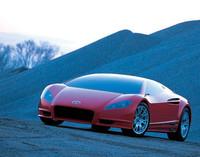 """ジウジアーロデザインのハイブリッド""""スーパー""""スポーツ「(トヨタ)アレッサンドロ・ボルタ」。0-100km/hを4.03秒でこなすという。 【スペック】 全長×全幅×全高=4358×1925×1140mm/ホイールベース=2570mm/車重=1250kg/駆動方式=4WD/3.3リッターV6+モーター(408ps)"""