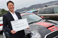MINIについてインタビューに対応してくださったBMWジャパン広報室の前田雅彦さん。MINIのダカールラリー2連覇おめでとうございます!