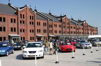 10ベストカーは、横浜赤レンガ倉庫で。