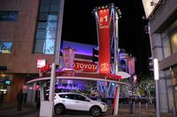 トヨタはショーの会期中、会場に隣接する商業施設の広場でもプロモーションを展開していた。