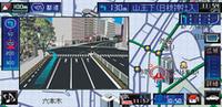 政令指定都市の主要交差点では3Dイラストの交差点拡大表示で案内。