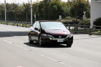 同乗体験中の「ホンダFCXクラリティ」。試乗コースは東京ビッグサイト周辺の公道で、所要時間は約8分という。