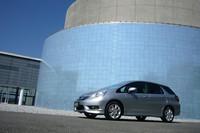 2011年3月17日の発売が予定されていた、ホンダの新型車「フィットシャトル」。地震の影響で生産に影響が出たため、まだ店頭に並んではいない。