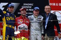 F1初開催中国GP、バリケロが連勝で飾る【F1 04】の画像