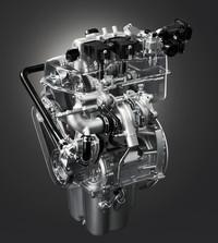 2気筒ターボエンジンには「アクティブ着火システム」などの新技術が盛り込まれているという。