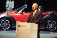 プレスカンファレンスでは伊奈功一社長が登壇した。
