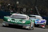 優勝したNo.18 NSX(手前)と2位でゴールしたNo.100 RAYBRIG NSX。NSXは岡山で1-2フィニッシュを達成した。