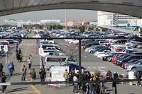 駐車場のにぎわいも、東京モーターショー以上!?