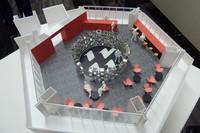「86 PIT HOUSE」はターンパイクの大観山ビューラウンジ内で営業する予定(写真は同店のプレゼン用模型)。
