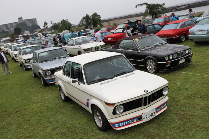 BMWの創立100周年にちなんでテーマカーに選ばれた……わけではないのだが、5台の「2002ターボ」をはじめ、今回はBMWのエントリーが目立った。