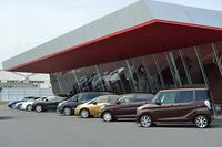 予防安全技術取材会は、日産追浜工場内のテストコース「GRANDRIVE」で開催された。