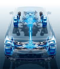 駆動方式は4WDのみ。「VTD-AWD」と呼ばれるシステムを採用しており、基本は前軸:後軸=45:55の比率でトルクを配分する。