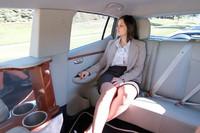 最初に乗車したクリスタル・セラーノさんによれば、「まさにリムジン」な乗り心地とか。