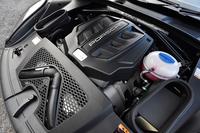 「マカンS」の3リッターV6ツインターボエンジン。340psの最高出力と46.9kgmの最大トルクを発生する。