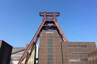 エッセンのシンボルでもあるツォルフェアアイン炭鉱業遺産群にて。バウハウス様式の、美しい第12採掘坑。