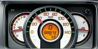 メーターは、速度計のみから3眼タイプへ変更(「C」タイプを除く)。