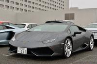 2014年3月のジュネーブショーで発表された「ウラカンLP610-4」。日本では同年7月に披露された。