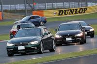 「NICOLE Circuit Day」のサーキットランの様子。BMWアルピナに限らず、さまざまなモデルが参加した。