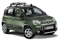 「フィアット・パンダ4×4アドベンチャー エディション」(実際の車両には、スキーキャリアアタッチメントは装備されない)