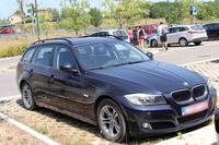 シエナの公共駐車場で。ベルギーナンバーの「BMW 3シリーズツーリング」。欧州の旅行者は混雑が少なく、低料金もしくは無料の郊外駐車場をよく知っている。