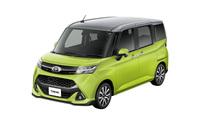 「トヨタ・タンク カスタムG-T」。ボディーカラーはブライトシルバーメタリック×フレッシュグリーンメタリック。