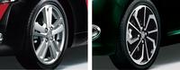 アルミホイールについては、写真の2種類のデザインが各モデルで選択可能となった。
