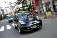 「リーフタクシーの営業日誌」は2012年の1月から翌13年10月まで『webCG』で連載していた。写真は乗務していた「リーフ」のタクシー。