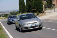 モンタルチーノを目指すメンバー一行。遠来はイタリア北部から往復1000km! 2009年6月14日開催
