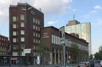 ドイツで最も古い技術研修機関「ハウス・デア・テヒニーク」。こちらもバウハウスらしい、力強く、かつ簡潔なデザインである。
