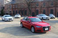 Dセグメントセダン比較は、ドイツ御三家に、ダウンサイジングターボ搭載の「レクサスIS200」と、『CG』初登場となる「ジャガーXE」のディーゼル車が挑む。(photo:北畠主税)