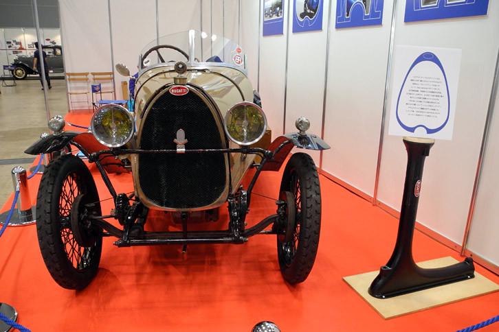 Bugatti Club Japaのブースに展示された「ブガッティT23モディフィエ」。